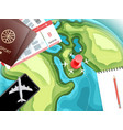 travel accessories vacation concept vector image vector image