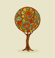 tree mandala art in traditional ethnic boho style vector image vector image