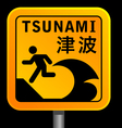 tsunami warining signs vector image vector image