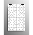 Vertical Poster A4 Puzzle Pieces White Puzzles vector image vector image