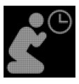 white halftone pray time icon vector image