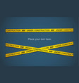 yellow tape vector image