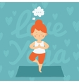 Yoga healthy card vector image