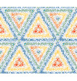 seamless triangle pattern of colorful dots vector image