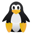 abstract cute pinguin linux mascot tux for ubuntu vector image