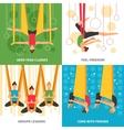 Aero Yoga Design Concept vector image