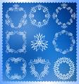 Set of Christmas frames Monogram design elements vector image