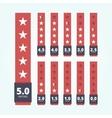 Set of star rating badges vector image