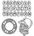 Ancient runes drawing vector image