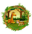 animals are playing together vector image vector image