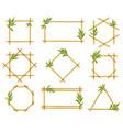 bamboo cartoon frames steam frame stalks vector image vector image