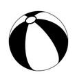 beach ball silhouette symbol icon design vector image vector image