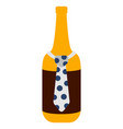 beer bottle with a necktie icon vector image vector image