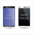black and silver smart phones mock up symbols vector image vector image