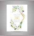 botanical wedding invitation save date card vector image vector image