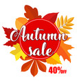 bright banner for autumn sale on white background vector image vector image