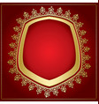 bright red background with gold frame vector image