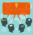 business solutions and teamwork concept vector image vector image