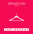 clothes hanger icon graphic elements for your vector image