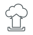cloud upload flat icon sign logo vector image vector image