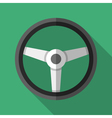 Colorful steering wheel icon in modern flat style vector image vector image