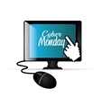 computer balck cyber monday e-commerce vector image