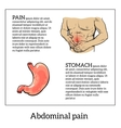 concept of health problems stomach illness vector image