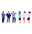 confident people victory poses young guys vector image vector image