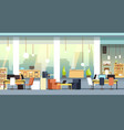 coworking interior empty open space office vector image