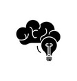 creative thinking black icon sign on vector image vector image