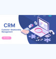 customer relationship management concept crm vector image vector image