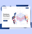 database developer isometric concept vector image vector image