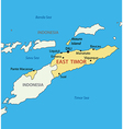 East Timor - map vector image