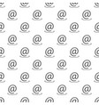 email address pattern seamless vector image vector image