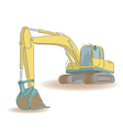 Excavator isolated on white background vector image vector image