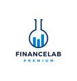 finance lab logo icon vector image vector image