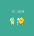 funny lemon with juicer and glass of lemonade vector image vector image