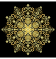 gold vintage snowflake vector image vector image