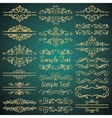 Golden Royal Luxury Dividers Frames vector image vector image
