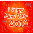 Happy New Year Card in rich red tones vector image vector image