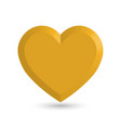 heart of gold with dropped shadow vector image vector image