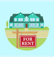 house for rent flat suburban american vector image