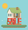 house for sale flat vector image vector image