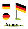 isometric flag germany vector image vector image