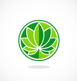 leaf round lotus spa logo vector image
