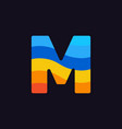 logo letter m colorful blue red orange vector image