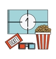 movie and cinema design vector image vector image