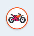 offroad bike motorcycle icon vector image
