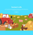 organic farming and agribusiness banners with vector image