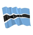 political waving flag of botswana vector image vector image